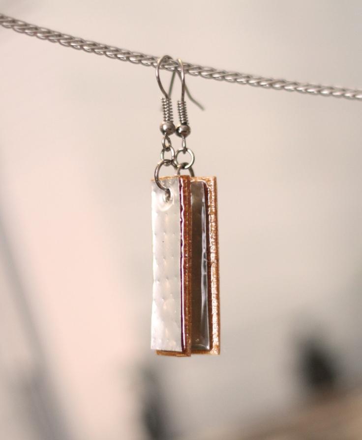 Silver DIY Tall Bar Earrings