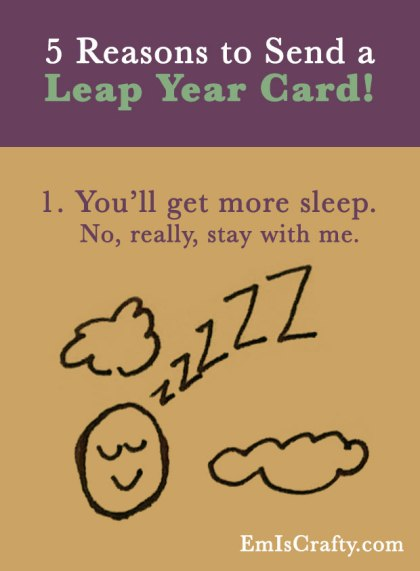 5 reasons to send a leap year card