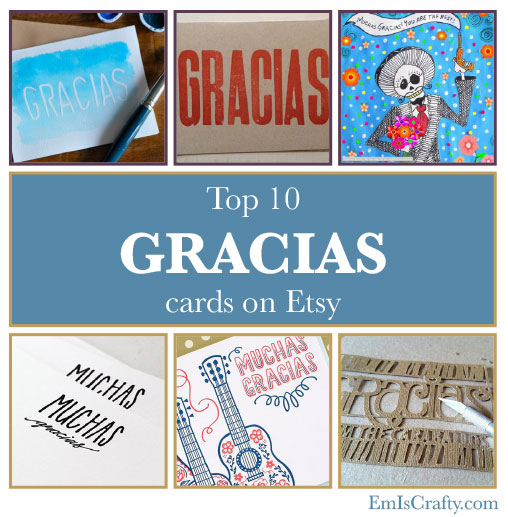top 10 gracias thank you cards on etsy