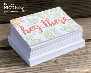 hey there spring time hello greeting card