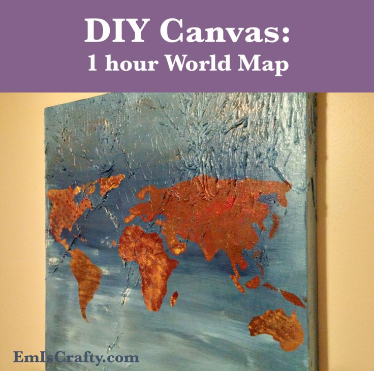 DIY canvas world map