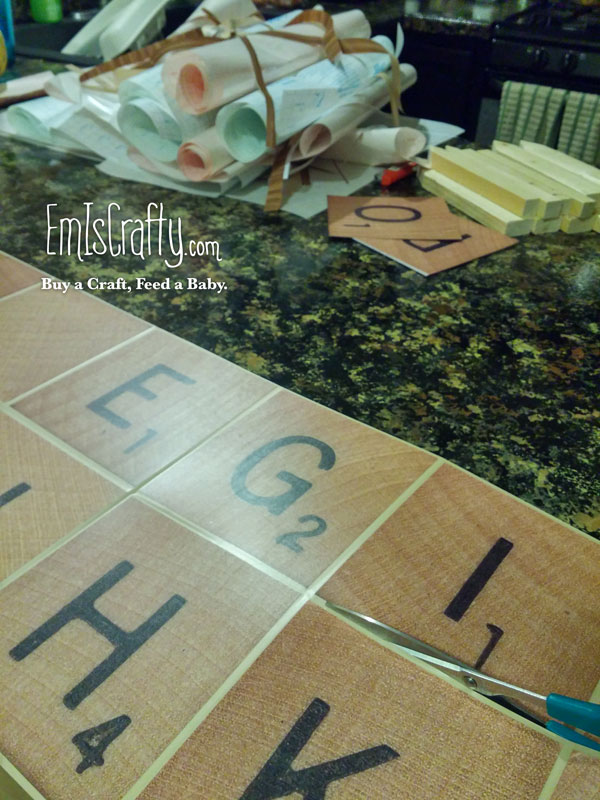 DIY Scrabble Set