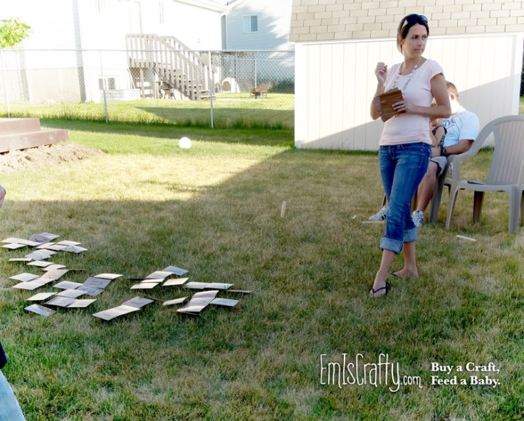 DIY Outdoor Scrabble Set
