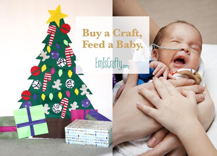 Buy a Christmas Felt Tree, Feed a Baby