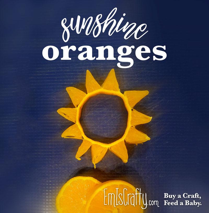 Healthy Toddler Snack - Sunshine Oranges