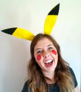 Pikachu Easy Halloween Costume - Ear headband